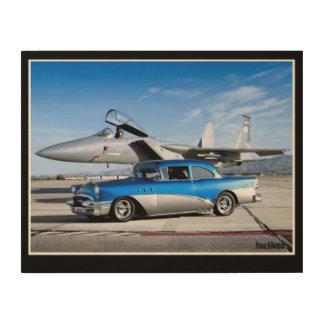 Spezielles klassisches Auto-Kampfflugzeug 1955 Holzleinwand