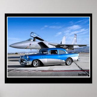 Spezielles klassisches Auto-Kampfflugzeug 1955 Poster
