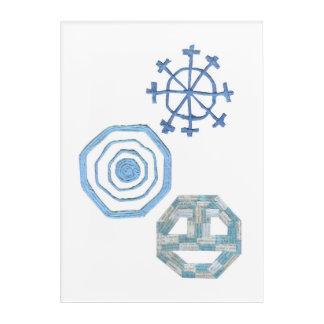 Spezielles Schneeflocke-Acryl-Plakat Acryldruck
