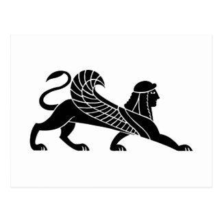 Sphinx, griechischer Entlastungsentwurf Postkarte
