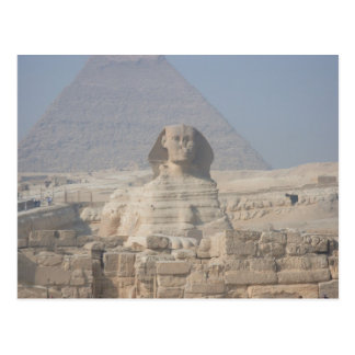 Sphinx und Pyramide in Ägypten Postkarte