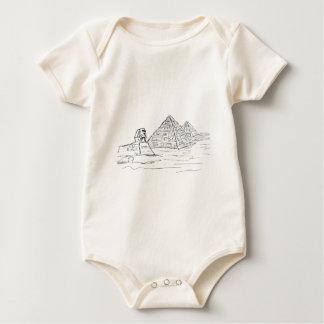 Sphinx und Pyramiden von Ägypten Baby Strampler