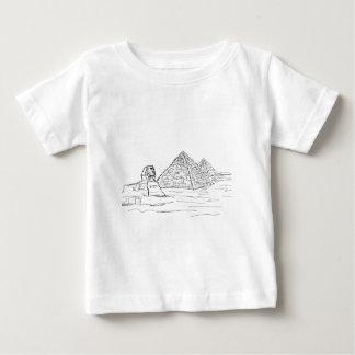 Sphinx und Pyramiden von Ägypten Baby T-shirt