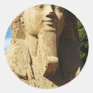 Sphinx von Memphis Ägypten Runder Aufkleber