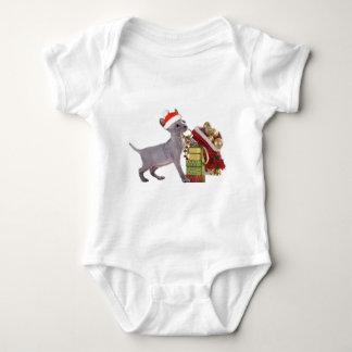 Sphynx Kätzchen genießt Weihnachten Baby Strampler