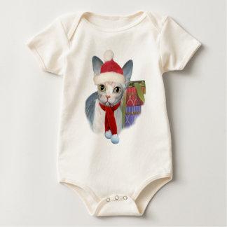Sphynx Kätzchen-Weihnachtskleid Baby Strampler