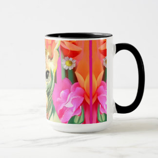 Sphynx Katze in den Blumen Tasse