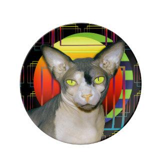 Sphynx Katze Ninja verrücktes Porzellanteller