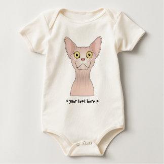 Sphynx Katze personalisiert Baby Strampler