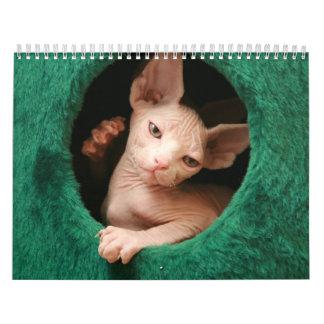 Sphynx Katzen-Wandkalender | GoSphynx.com Wandkalender