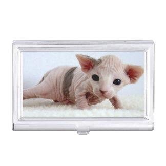Sphynx kitten.png visitenkarten etui