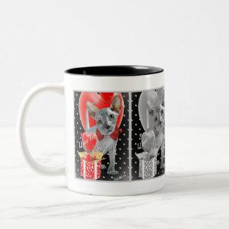Sphynx Liebe in einer Kasten-Kaffee-Tasse Zweifarbige Tasse