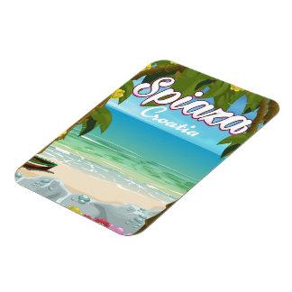 Spiaza Kroatien Strand-Ferienplakat Magnet