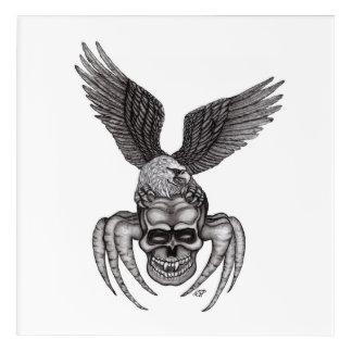 Spiderskull mit Eagle Acryldruck