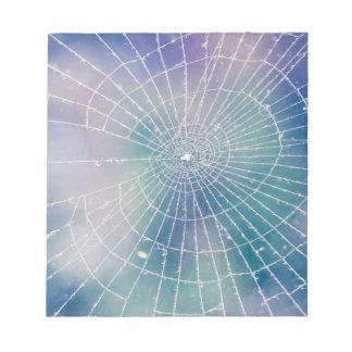 Spiderweb Notizblock