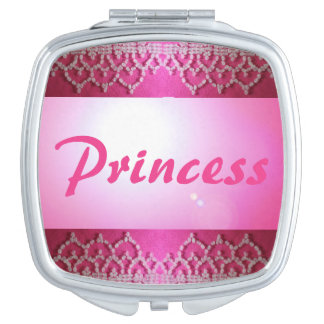 Spiegel-Geschenk Prinzessin-Pink Beaded Look Schminkspiegel