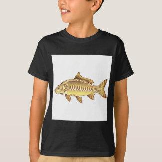 Spiegel-Karpfen-vektorkunst-Grafikdesigndatei T-Shirt