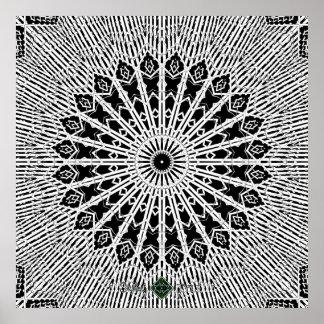 Spiegel-Mandala Poster