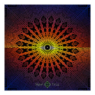 Spiegel-Mandala (Regenbogen) Poster