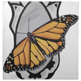 Spiegel-Schmetterling Stoffserviette