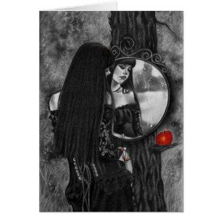 Spiegel Sorgen-der roten Grußkarte