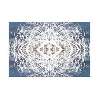 Spiegelbild-Baummuster Leinwanddruck