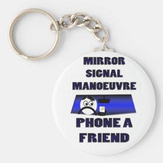 Spiegelsignal-Manövertelefon ein Freund Schlüsselanhänger
