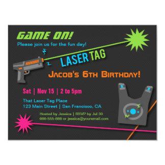 Spiel auf Laser-Umbau-Geburtstags-Party 10,8 X 14 Cm Einladungskarte