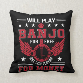 Spiel-Banjo Frree Endspielendes Geld-Shirt Kissen