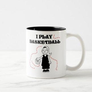 Spiel-Basketball des Mädchen-I Kaffeehaferl