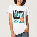 Spiel-Basketball mögen ein Mädchen Shirt