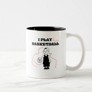 Spiel-Basketball-T-Shirts und Geschenke des Mädche Haferl