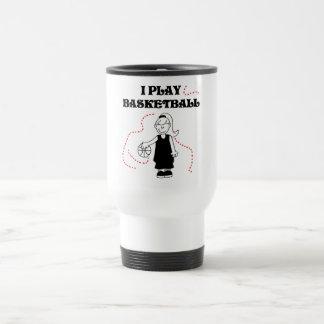 Spiel-Basketball-T-Shirts und Geschenke des Mädche Teetasse