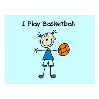 Spiel-Basketball-T-Shirts und Geschenke des Postkarte