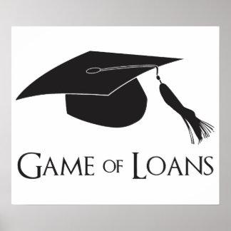 Spiel der Uni-Abschluss-Darlehen Plakatdrucke