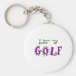 Spiel des Golfs Schlüsselanhänger