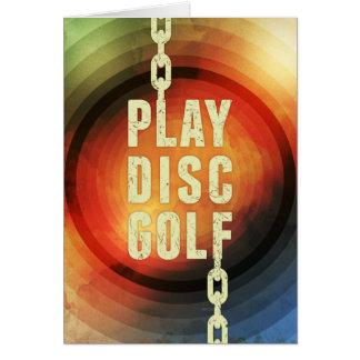 Spiel-Disc-Golf Karte