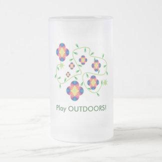 Spiel-draußen Produkte - für Gesundheit u. Spaß Mattglas Bierglas