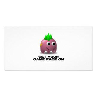 Spiel-Gesichts-Punk (Retro Avatara) Fotokartenvorlage