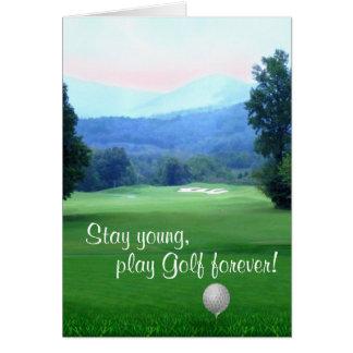 Spiel-Golf, bleiben junges alles Gute zum Karte