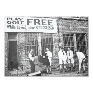 Spiel-Golf frei (beim Lassen Ihres Anzugs drücken) 12,7 X 17,8 Cm Einladungskarte