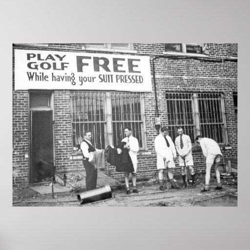Spiel-Golf frei (beim Lassen Ihres Anzugs drücken) Poster