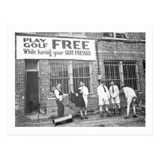 Spiel-Golf frei (beim Lassen Ihres Anzugs drücken) Postkarte