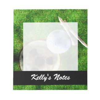Spiel-Golf-Schmutz-Art Notizblock