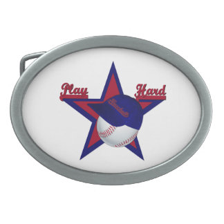 Spiel harter Softball-Hut Gurt-Stopfen Ovale Gürtelschnallen