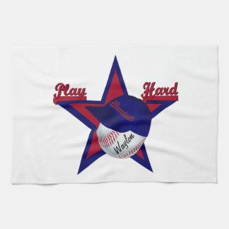 Spiel-harter Softball und Hut-Geschirrtuch Handtuch