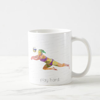 Spiel-harter Volleyball Origami Kaffeetasse