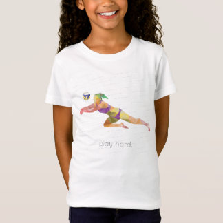 Spiel-harter Volleyball Origami T-Shirt