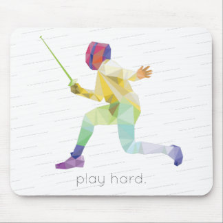 Spiel hartes fechtendes Origami Mousepad