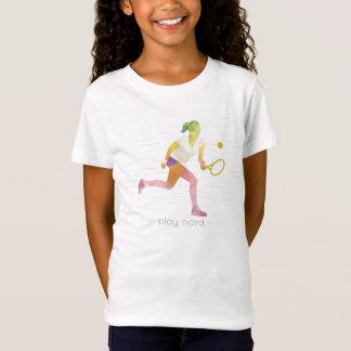 Spiel hartes Origami Tennis T-Shirt